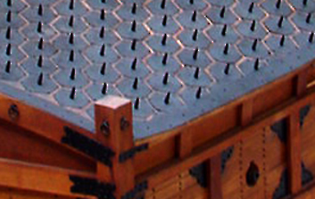 Turtle Ship Deck Spikes in the War Memorial of Korea